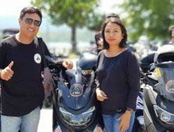 Jimmy Rade Bikers Advokat Romantis, Selalu Ajak Istri  Touring  Bersama