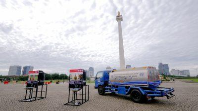 Komunitas Honda Sumbangkan Fasilitas Cuci Tangan di Monas